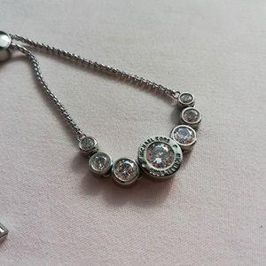 Michael Kors logo jet slider chain Bracelet silver